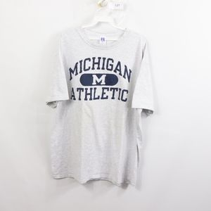 90s Russell Mens 2XL Michigan Wolverines T Shirt